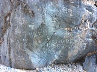 Petroglyphs and tags...nice.