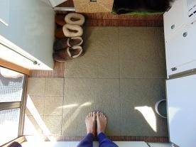 Flor carpet squares=happy bare feet.