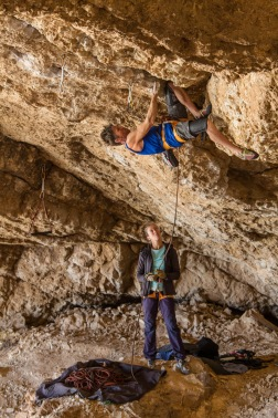 The knees are the key to start the crux fresh.