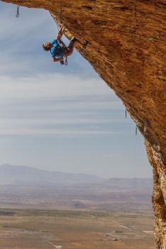 Todd Perkins against the southern Utah sky.